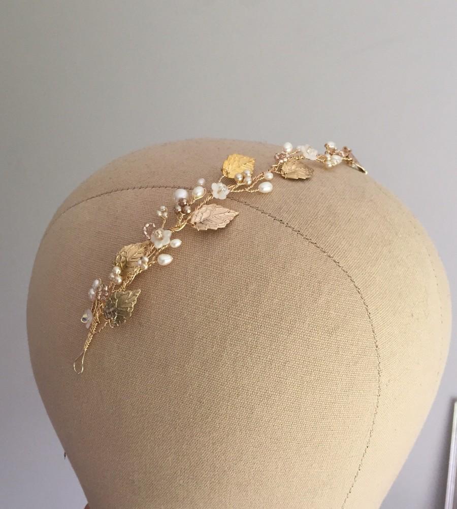Свадьба - Sara hairvine. Free shipping, Wedding hair accessory, Bridal hair adornment, Tiara, Vine, Bridesmaid, Bride