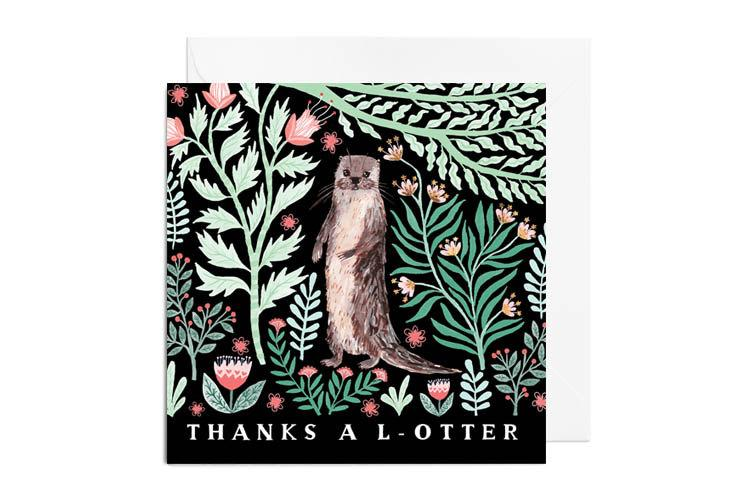 Wedding - Greetings Card - Thanks a L-Otter, Thank You Greetings Card