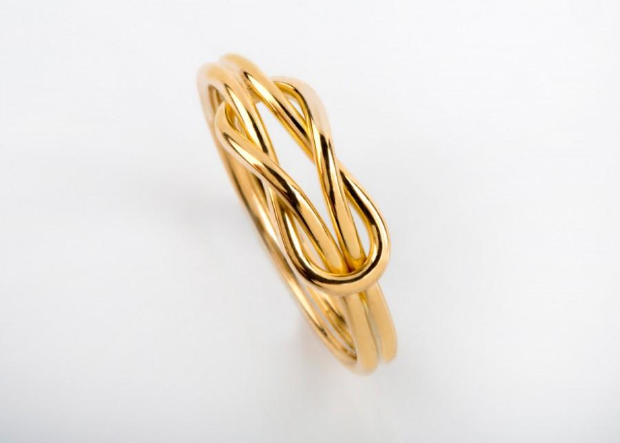 Свадьба - Real Gold Knot Ring, Knot Engagement Ring, Knot Ring Gold, Infinity Knot Ring, Promise Knot Ring, Wire Ring, Alternative Engagement, Couple