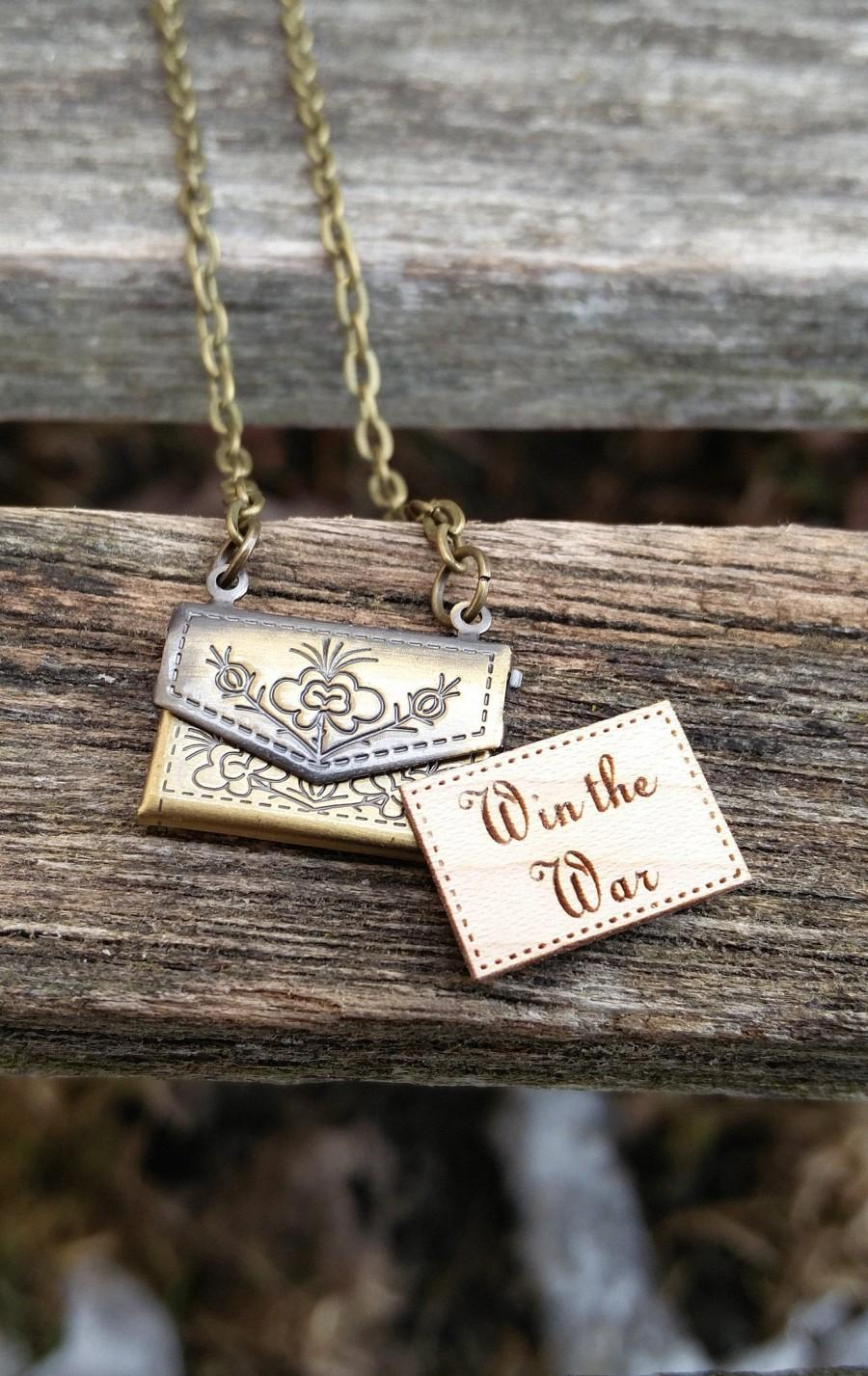 Wedding - Personalized Envelope Locket Necklace. CHOOSE YOUR WORDS. Wedding, Groom Gift, Anniversary, Birthday, Valentine.
