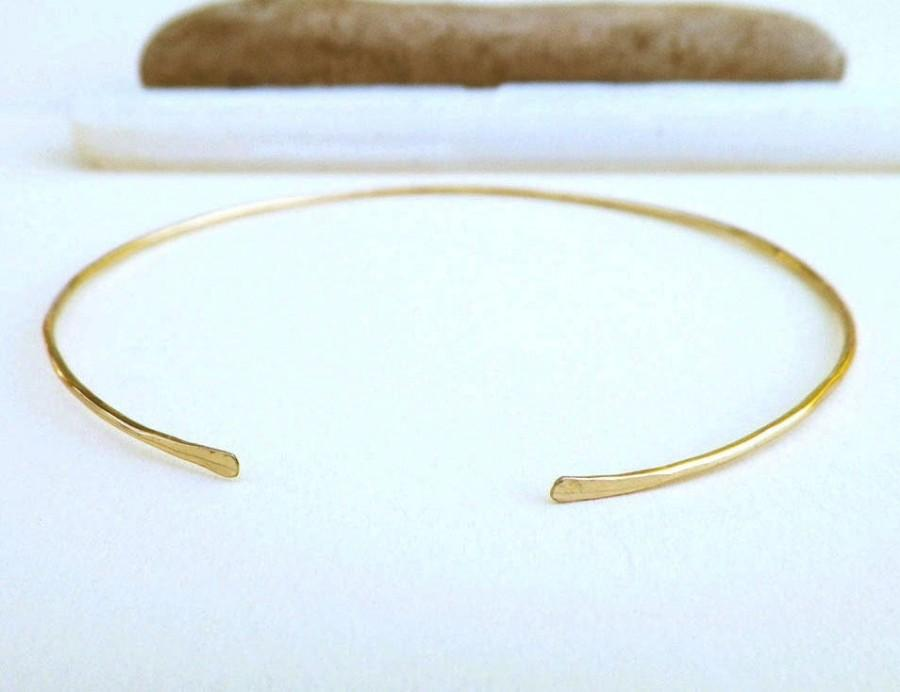 Wedding - Dainty gold bracelet, thin gold cuff, minimalist jewelry, layering jewelry, gift for her, delicate bracelet, rose gold cuff, bridesmaid gift