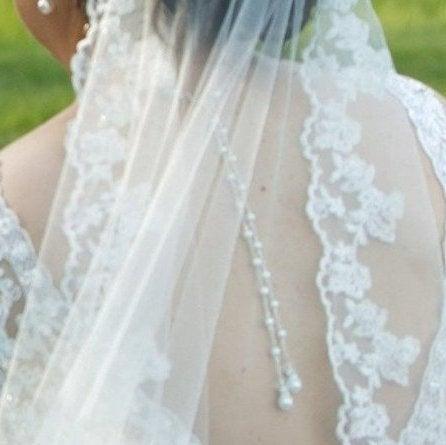 زفاف - Statement Bridal Back Necklace, Back Drop Y Necklace, Bridal Pearl & Crystal Necklace, Wedding Double BackDrop Necklace, Open Back Necklace