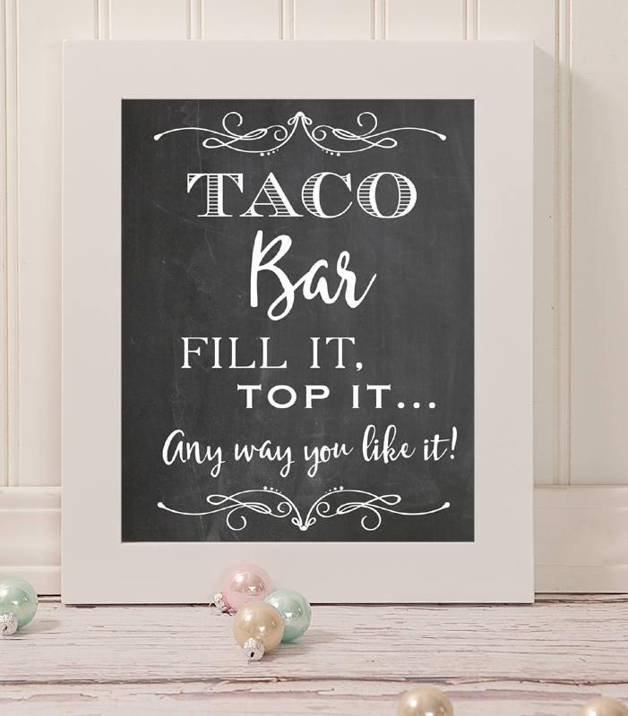 Mariage - Taco Bar Wedding Sign