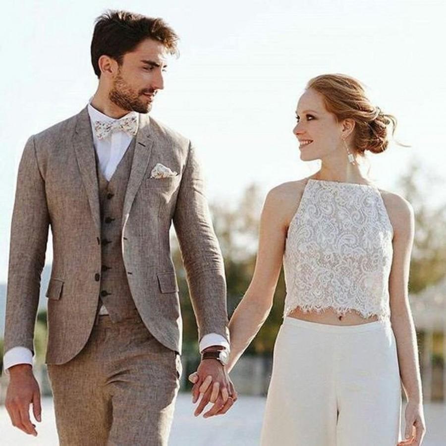 Wedding - Men suits,linen Summer Suit,3 Piece Linen suits,wedding suits,Men linen suits, Wedding Suits, Groom Wear,Men Beach Suits,Men slim fit suit