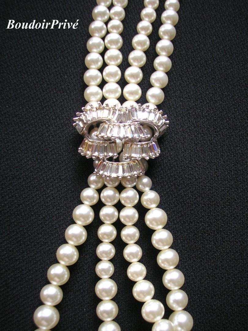 Wedding - Vintage Signed Boucher Pearl Necklace