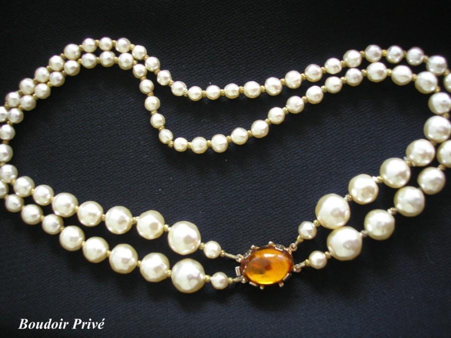 Wedding - Vintage Baroque Pearl Necklace