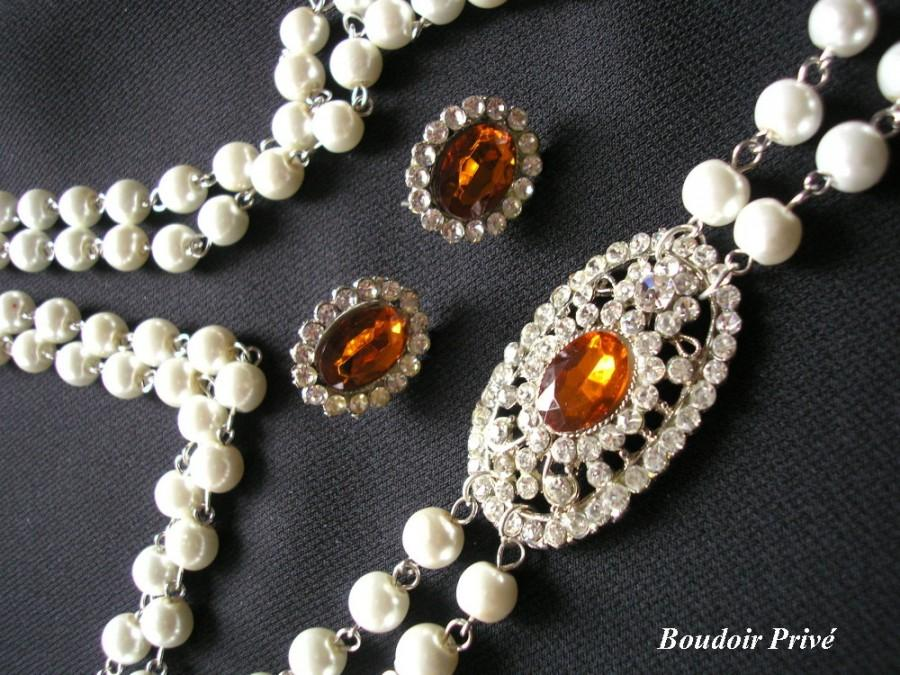 Wedding - Long Pearl Necklace