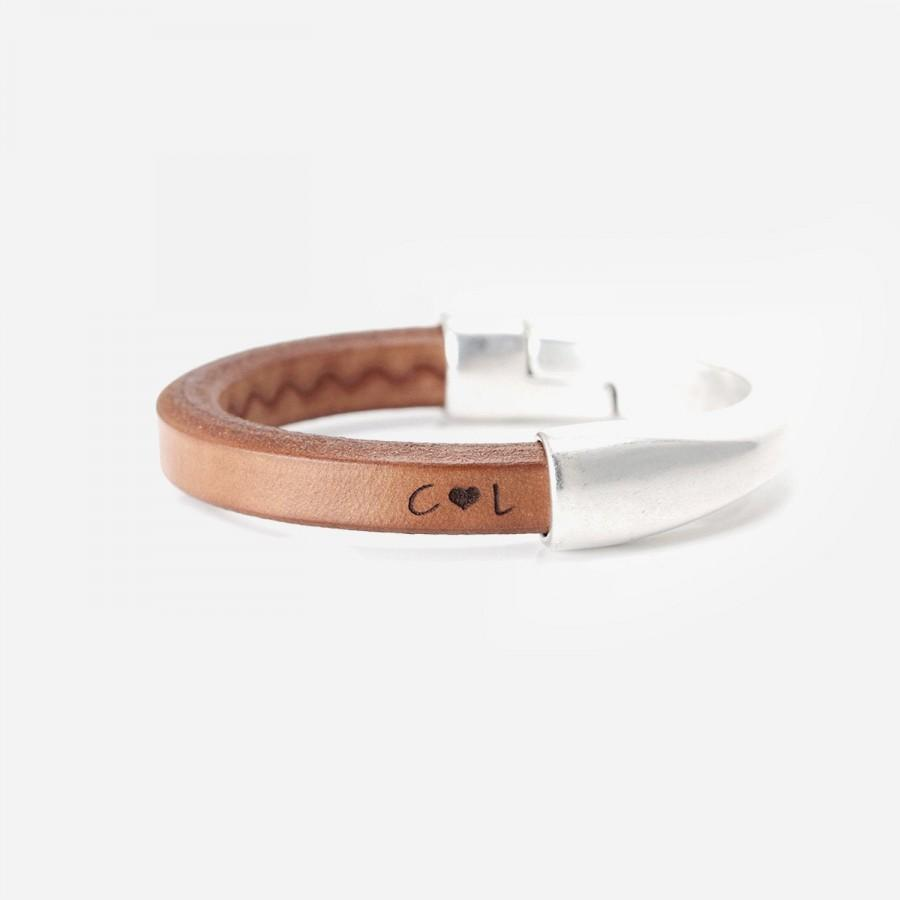 Wedding - Anniversary Gifts for Women, 3rd Anniversary, Gift for Her, Leather Anniversary, Personalized Bracelets for Women, Womens Leather Bracelet