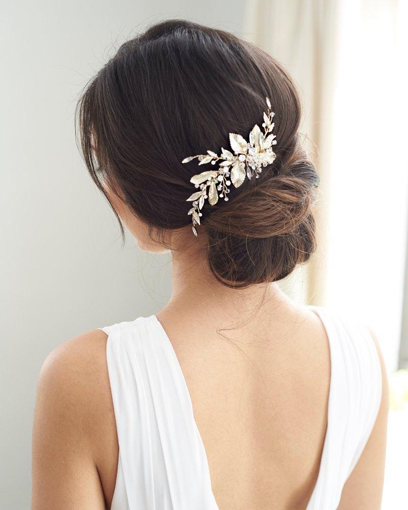 Wedding - Crystal Bridal Clip, Floral Rhinestone Wedding Clip, Bridal Hair Accessory, Crystal Wedding Headpiece, Floral Hair Piece, Wedding ~TC-2401