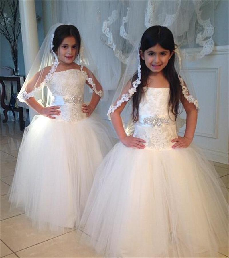 Wedding - Girl Rose Lace Edge 1 Tier Custom Handmade Plain First Communion Wedding Bridal Flower Veil