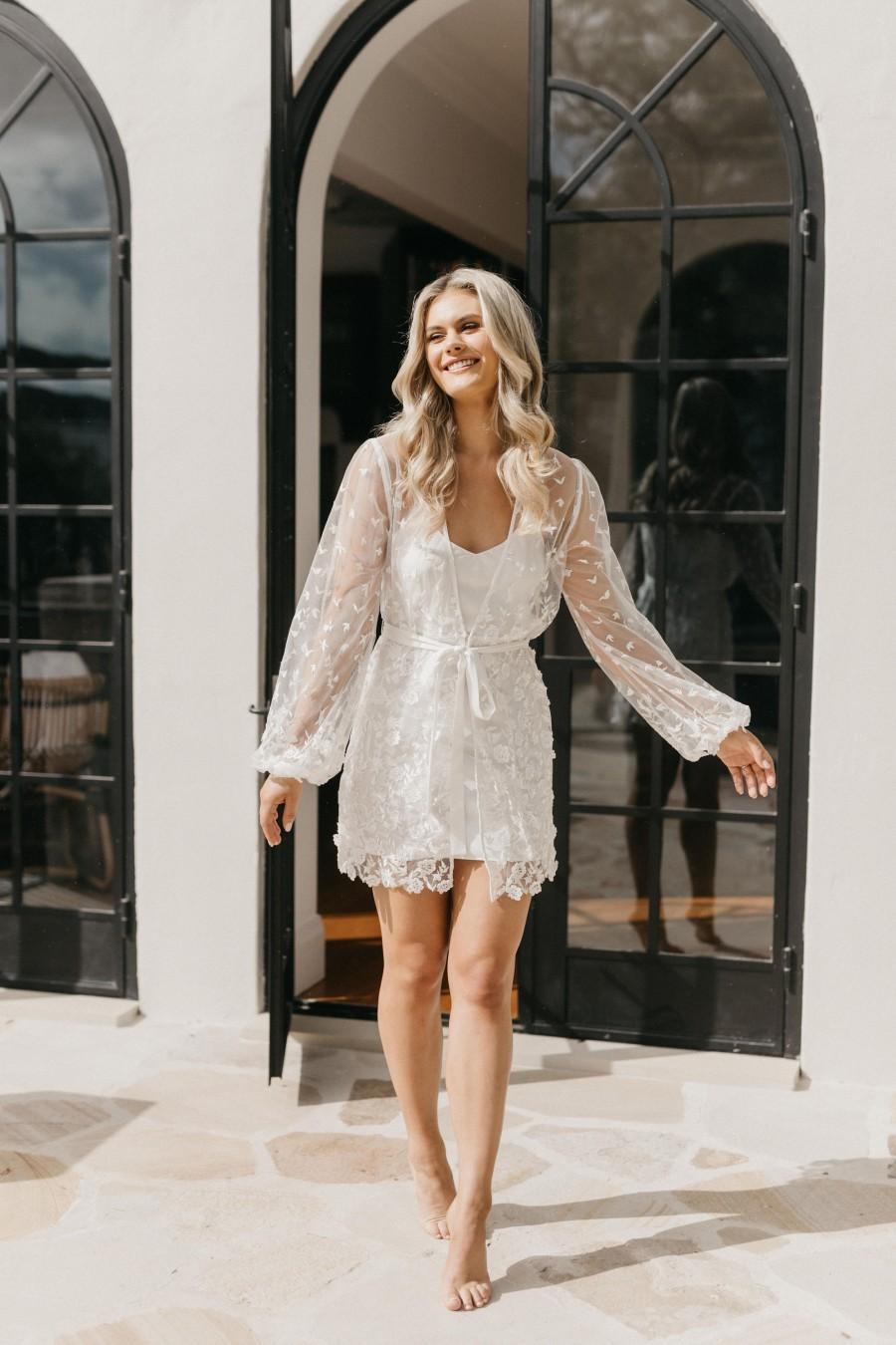 Wedding - Lace Robe / Lace Bridal Robe / Bridesmaid Robes / Robe / Bridal Robe / Bride Robe / Bridal Party Robes / MAYA