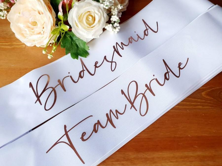 Wedding - Virtual Hen party, bachelorette party, bride to be sash, bridesmaid gift box, bridal shower, birthday, wedding, future Mrs, custom sash,
