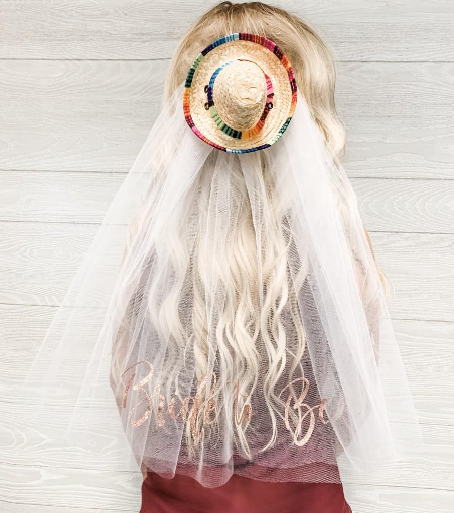 Свадьба - Sombrero Veil - Final Fiesta - Future Mrs. Veil - Bachelorette Party Veil - Fiesta Bachelorette Veil - Bachelorette Gift