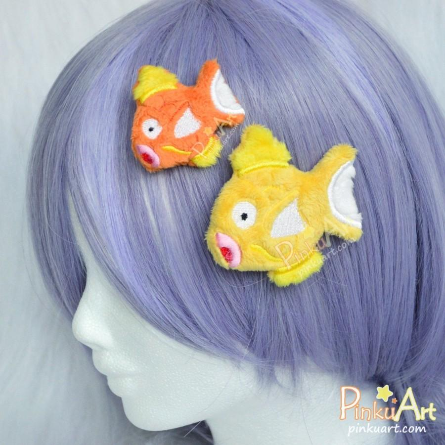Wedding - Magikarp Brooch & hairclip plush I MTO I Pokemon