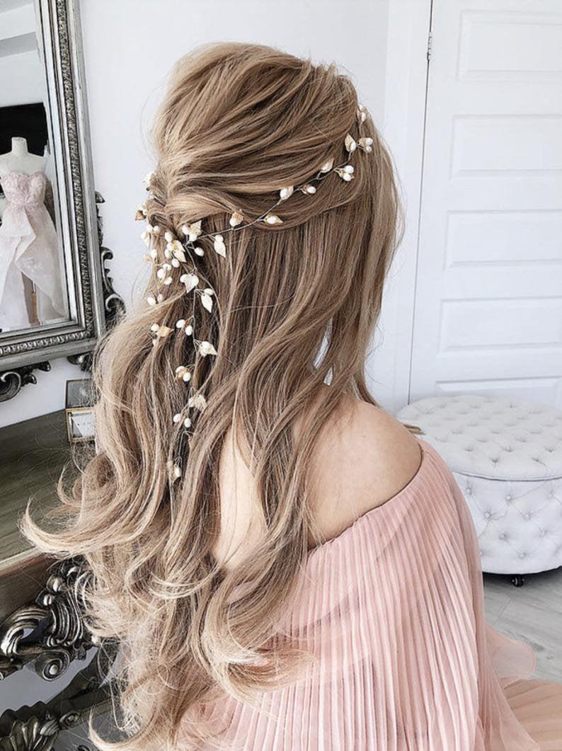 Свадьба - Bridal Hair Vine Gold Bridal Hair Vine Wedding Hair Vine Wedding Hair Accessories Bridal Wreath Leaf Bridal Hair Vine Wedding wreath