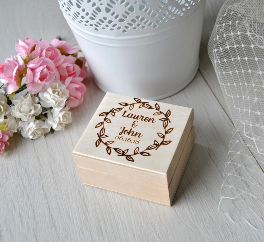 Wedding - Wedding Ring Box Wooden Personalised Ring Box Custom Proposal Bearer ring box Engagement ring box rings holder Name Anniversary Ring Box