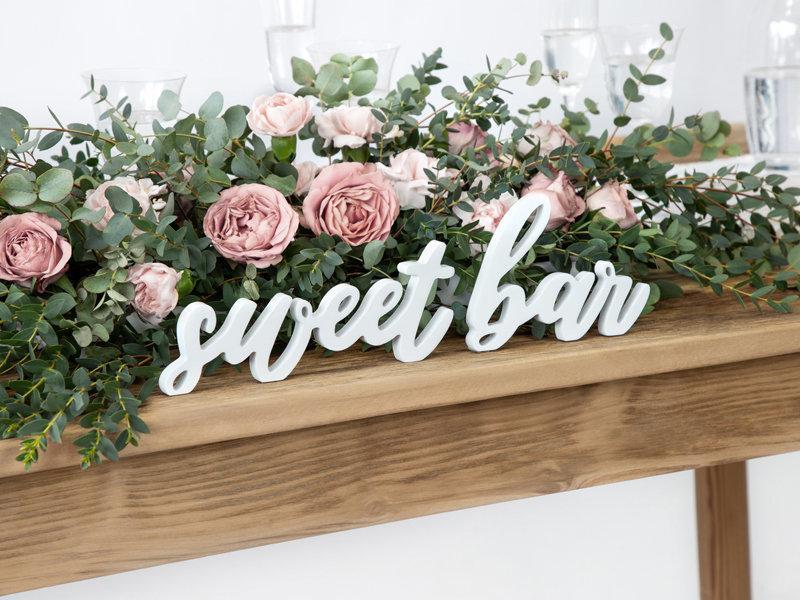 زفاف - Sweet Bar Wooden Signs, Wedding Decorations, Wedding Table Signs, Wooden Wedding Decorations, Rustic Top Table Decor, Wedding Signs