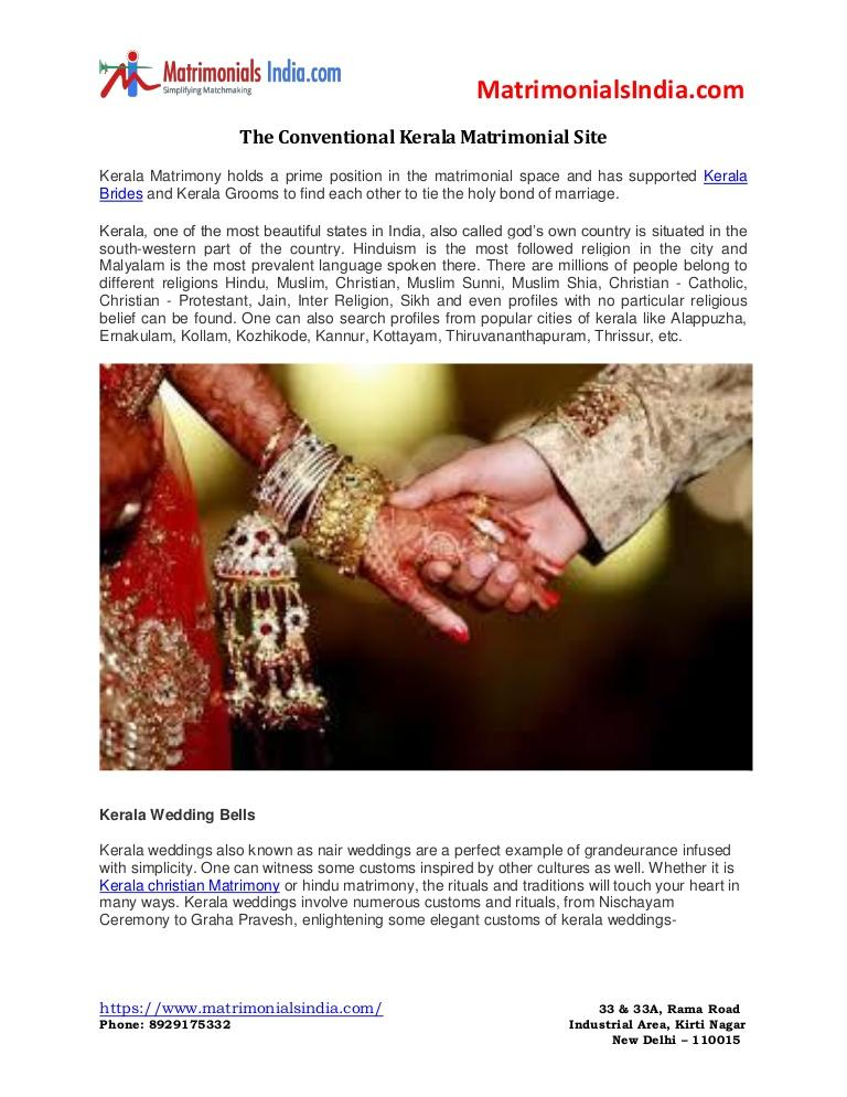 Hochzeit - The conventional Kerala Matrimonial Site