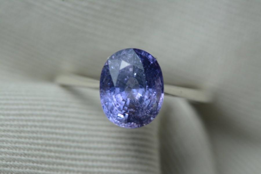 زفاف - Unheated GIA Color Change Sapphire Ring, Certified 3.63 Carats, Oval Brilliant Cut, Natural Genuine Jewelry, Solitaire Violet Blue Purple