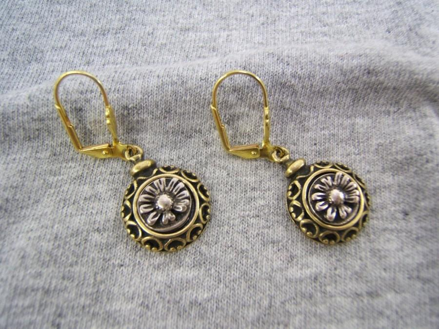 زفاف - Gift Idea! Boho Chic Floral Earring, Flower Jewelry, Vintage Style, Bohemian, Boho, Gold, Silver,  Antique, On Sale! Free Shipping*! #50236