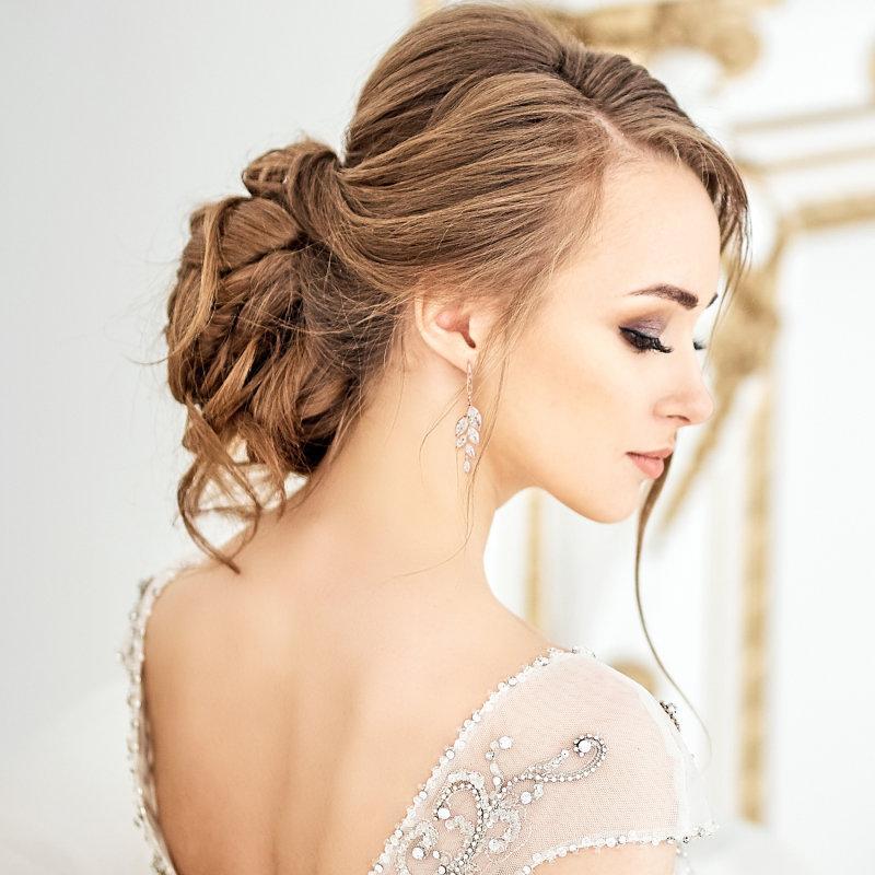 Свадьба - Dainty Drop Earrings, Available in Silver or Rose Gold, Bridal Accessories, Bridal Jewellery, Crystal Drop Earrings, Bella