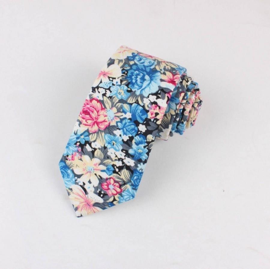 "Wedding - CANDY Floral Skinny Tie 2.36"""
