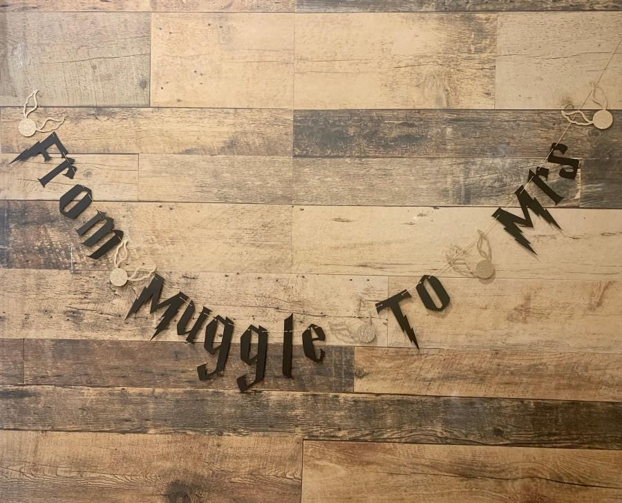 Mariage - From Muggle to Mrs Bridal Shower Bachelorette Banner