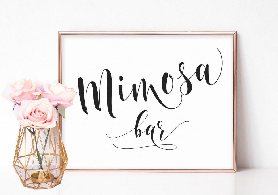 زفاف - Mimosa Bar Sign, Mimosa Sign, Bridal Shower Signs, Mimosa Bar Printable, Bachelorette Party Signs, Bridal Shower Decorations, Wedding Signs