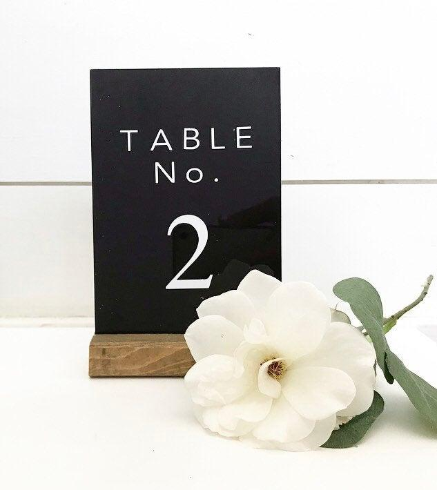 Wedding - Black Acrylic Table Numbers