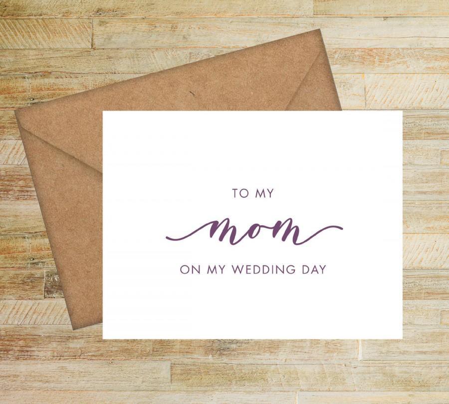 زفاف - To My Mom On My Wedding Day Card