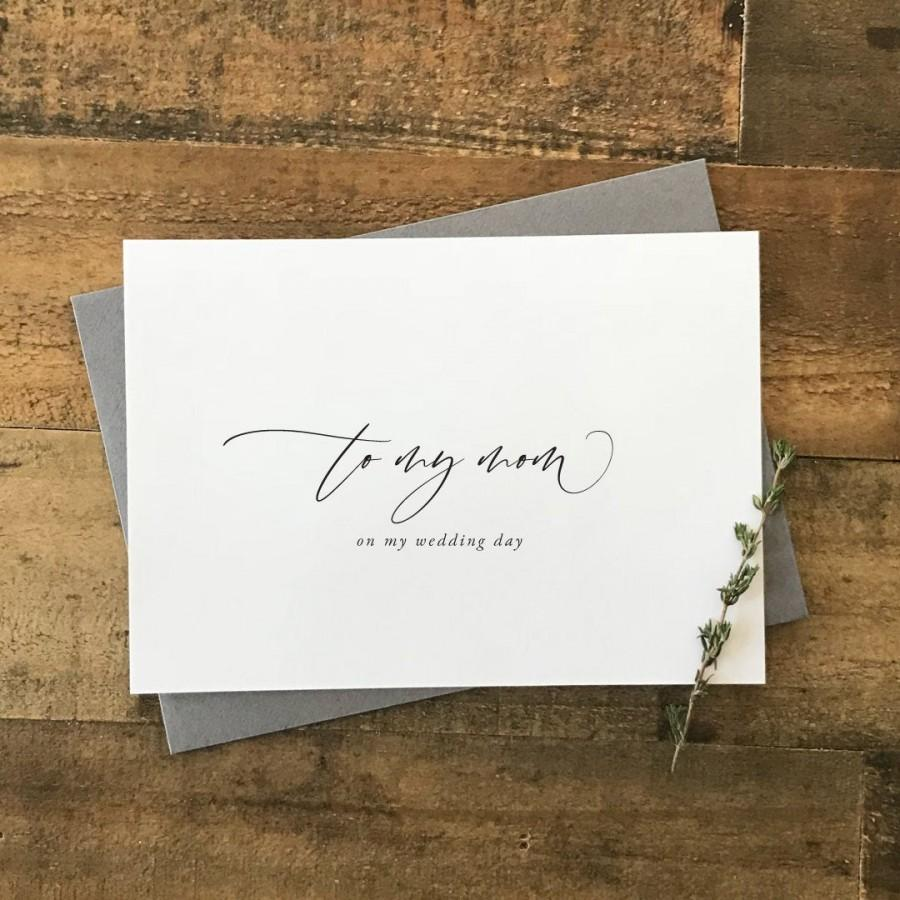 زفاف - Wedding Day Card to Mom