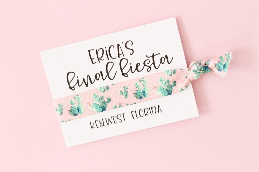 Wedding - Final Fiesta Hair Tie Favor - Custom Final Fiesta Hair Ties - Fiesta Bachelorette Party Favor- Bachelorette Hair Ties - Final Fiesta - Boho