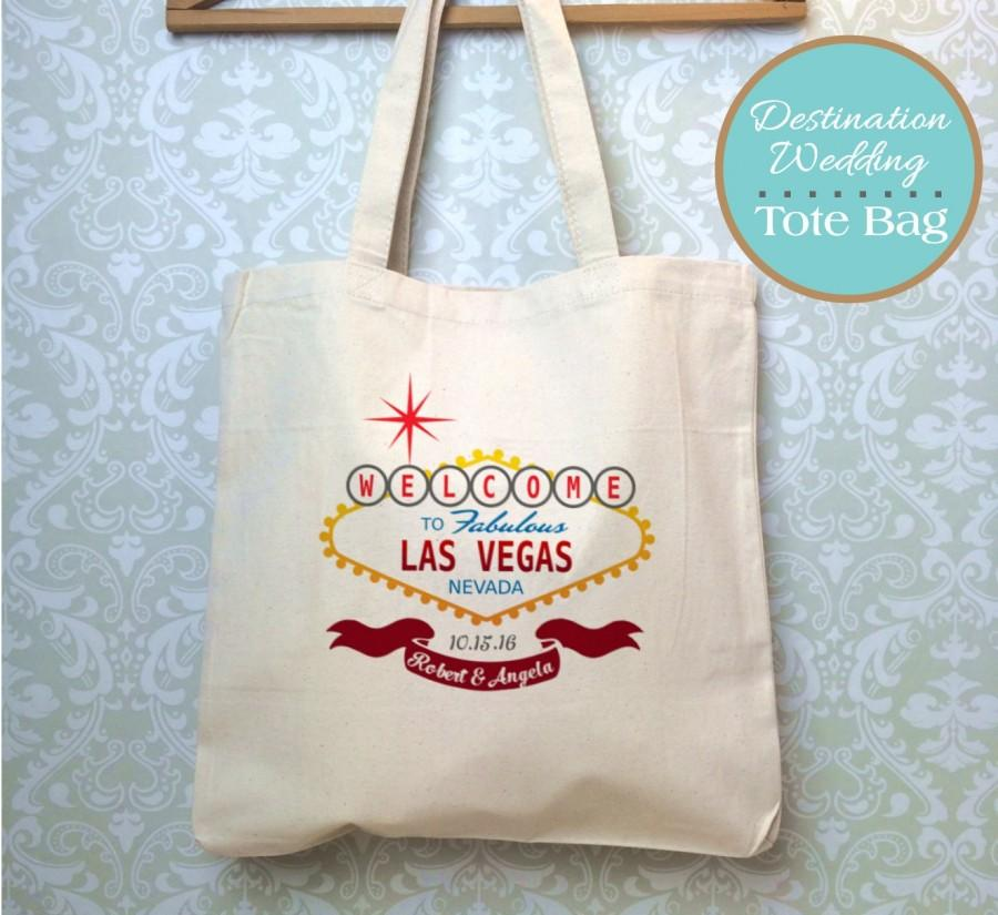 Hochzeit - Las Vegas Wedding Tote, Destination Wedding Las Vegas, Las Vegas Welcome Bag, Personalized Welcome Tote Bags for guests, Custom Canvas Tote