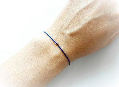 زفاف - Couples Bracelet, First Fathers Day, Family Bracelet, Mother Daughter Bracelet, Infinity Bracelet, Matching Bracelet, Blue String Bracelet