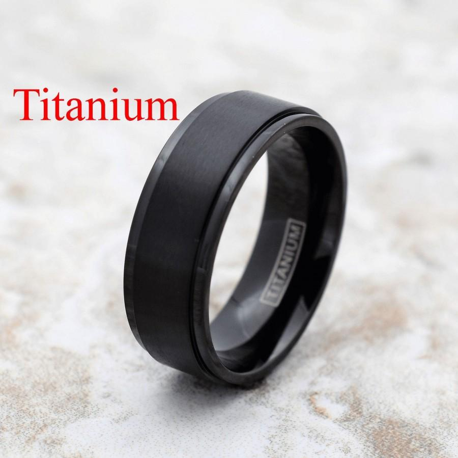 زفاف - Titanium Ring, Black Titanium Ring, Titanium Band, Men's Titanium Band, Men's Titanium Ring, Men's Black Ring, Black Ring, Men's Ring,