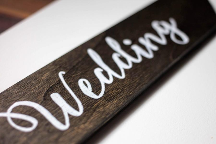 Wedding - Custom Wedding Arrow Direction Sign