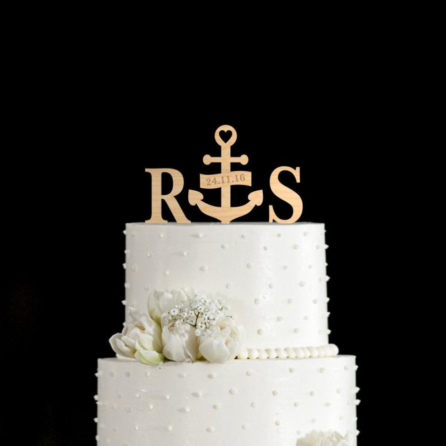 زفاف - Navy wedding cake topper,navy wedding,Anchor wedding cake topper,anchor cake topper,nautical wedding cake topper,nautical cake topper,597