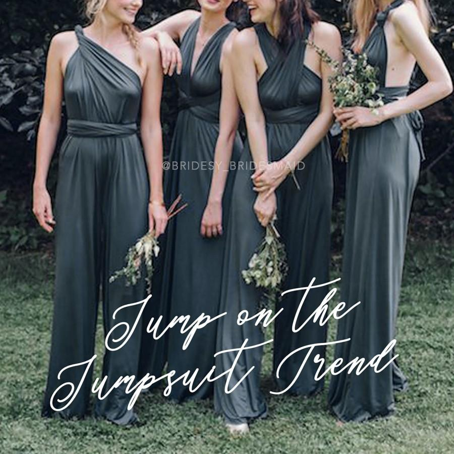 Hochzeit - Convertible Jumpsuit/ Bridesmaid Dress/ Infinity Bridesmaid Dress/ Midi Dress/ Multiway Dress/ Party Dress/ Formal Dress/ Jumpsuit/ Playsuit