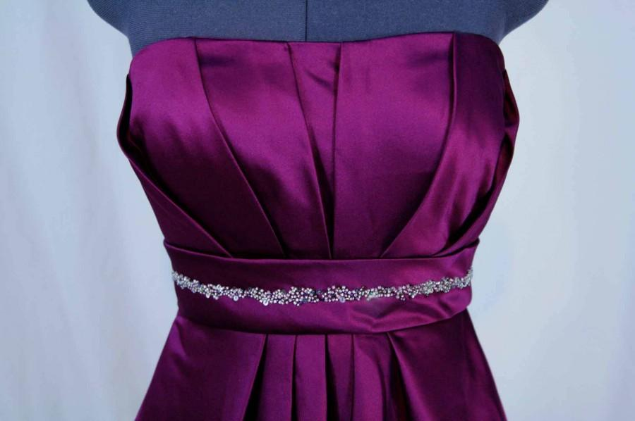 Mariage - PROM DRESS Beaded wine color bridesmaid, homecoming dress size 6