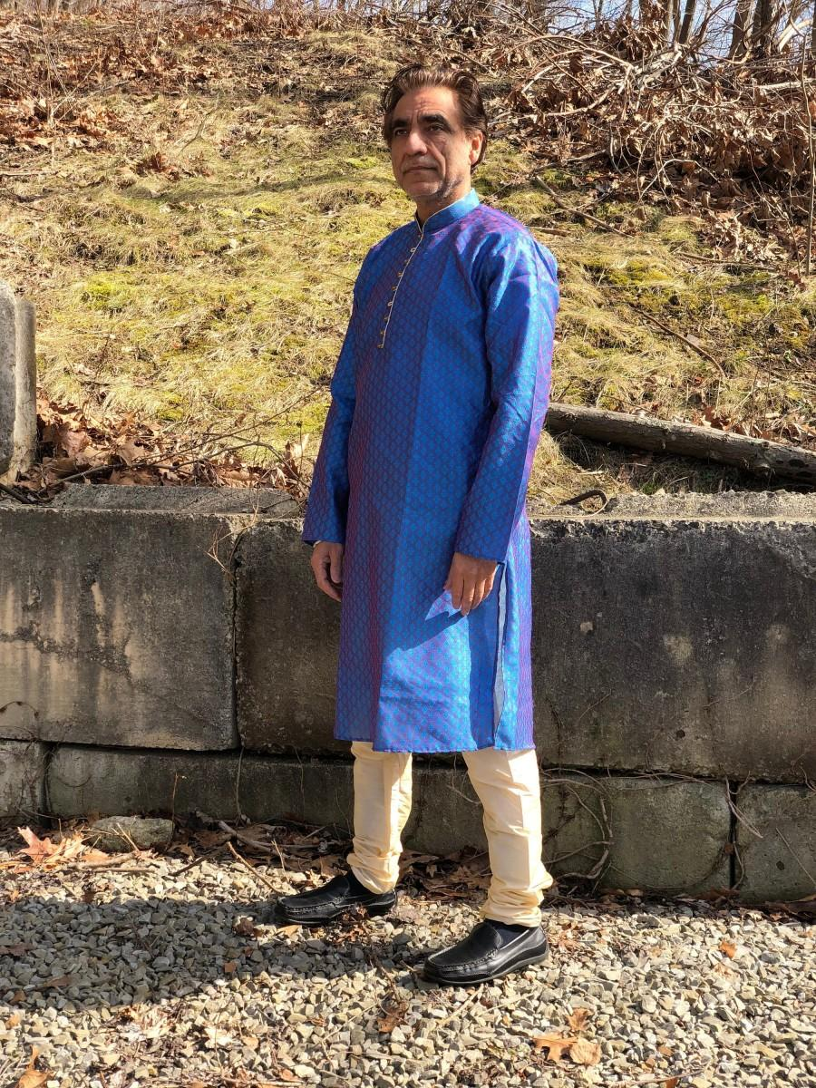 Свадьба - Kurta, Men's Kurta Pajama Set w Pants, Indian Tunic Mens, Nehru Tunic, Indian Wedding, Indian Clothing for Men, Indian Suit, Pajami, Pyjama