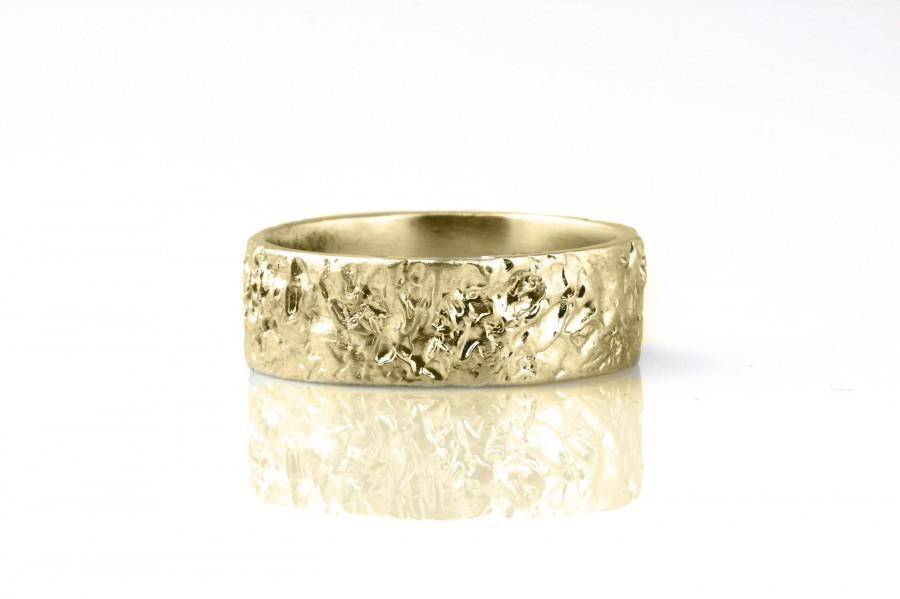 Свадьба - Rustic Wedding Ring,Bohemian Rings,Wedding Ring Band,Ring for Men,Gold Hammered Ring,Textured Ring,Gold Band Ring,Boho Rings for Women