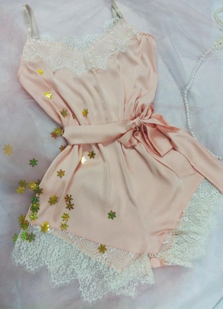 Wedding - Silk Pajama Romper
