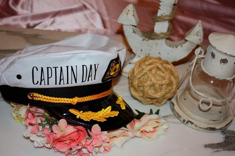 Wedding - CUSTOM CAPTAIN NAME Hat. Sailor Hats. Bride's Mate. Crew. Last Sail. Snap Back. Bachelorette Hat. Nauti Bride. Ship Faced. Yacht Hat. Groom