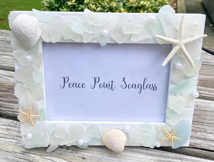 Свадьба - Authentic Handmade Seaglass Picture frame