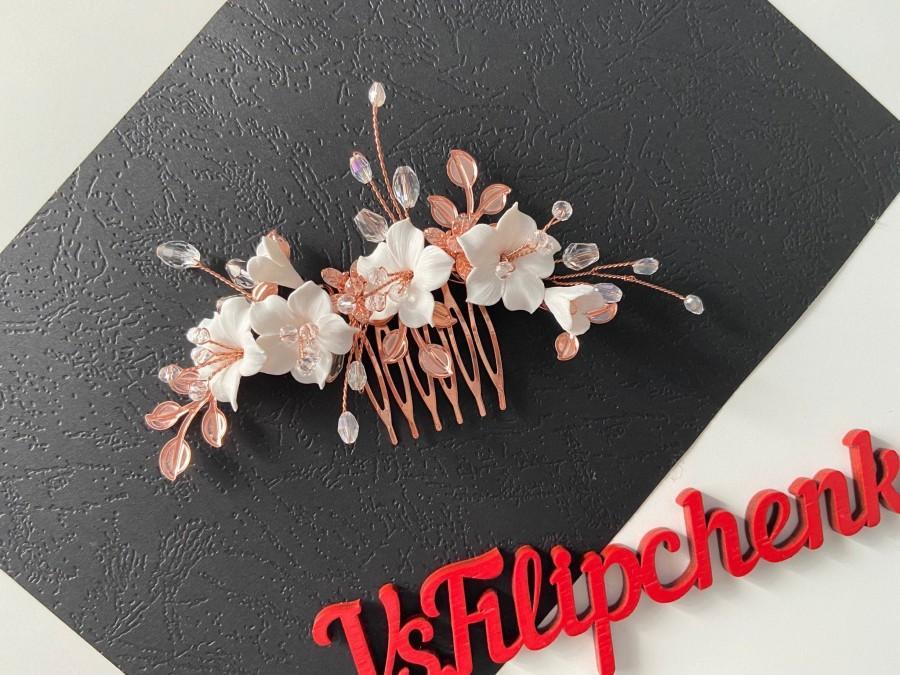 Wedding - Wedding hair accessories with flowers/Bridal hair comb/Bridal hair accessory/Wedding hair clip/Wedding hair piece/Bridal hair piece flower