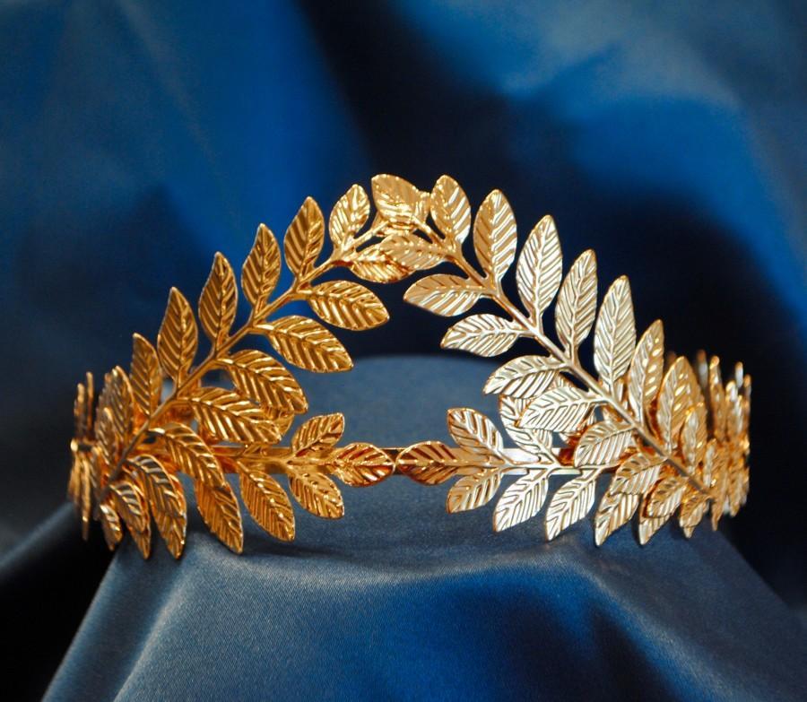 Wedding - Olive Branch Tiara, Wedding, Greece, Gold, Headband, Leaves, Crown, Hairpiece, Elegant, Greek, Wreath, Laurel, Nature, Headpiece, Halloween