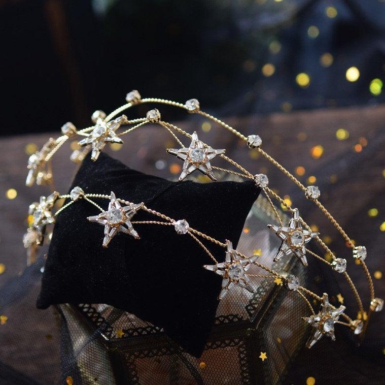 Wedding - Star Wedding Bridal Prom Party Bridal Shower Tiara Rhinestone Crystal Diamond Crown