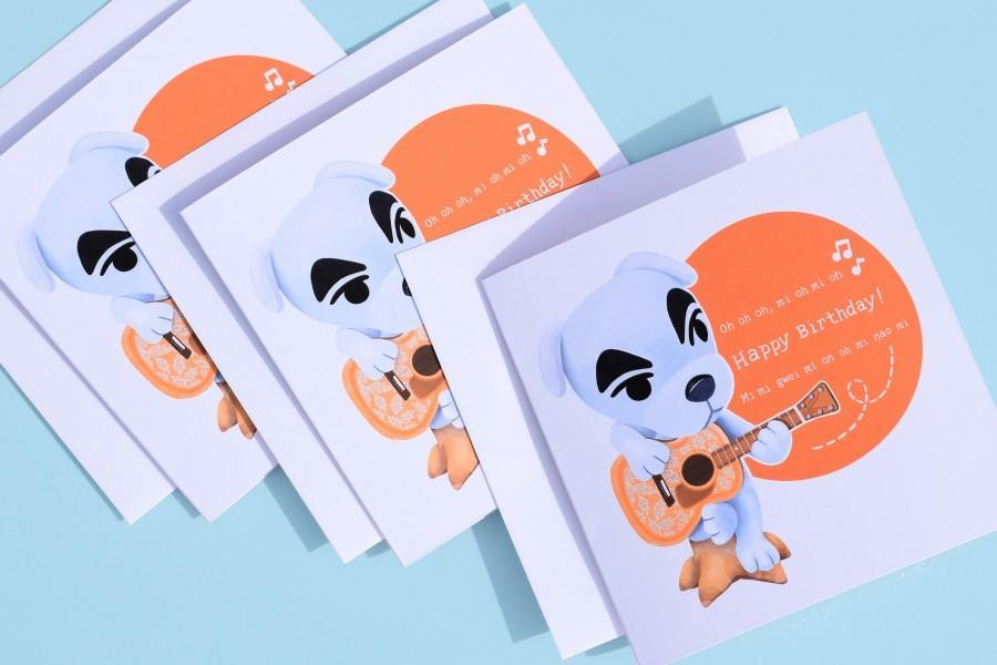 زفاف - KK. Slider Happy Birthday Card / ACNH / Animal Crossing New Horizons / Nintendo Switch