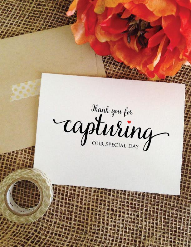 Wedding - Wedding Photographer Gift Thank you videographer gift thank you photographer card videographer card thank you for capturing our special day