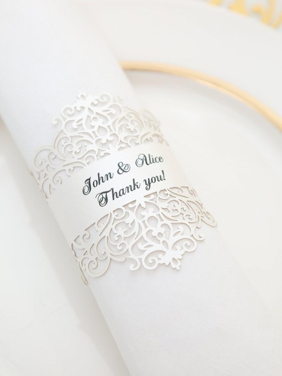 Elegant Napkin Rings Laser Cut Personalized Set Of 10 Napkin Holder For Wedding Shower Graduation Party Dinner Available In Recycled Paper 2971844 Weddbook